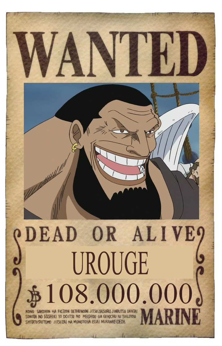 BOUNTY WANTED DEAD OR ALIVE UROUGE