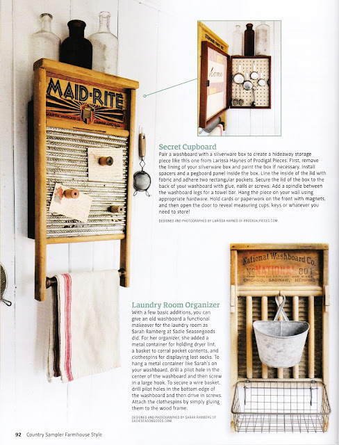 Photo of a magazine article on washboards