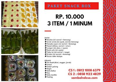 harga aneka snack di Ciledug kota Tangerang Selatan
