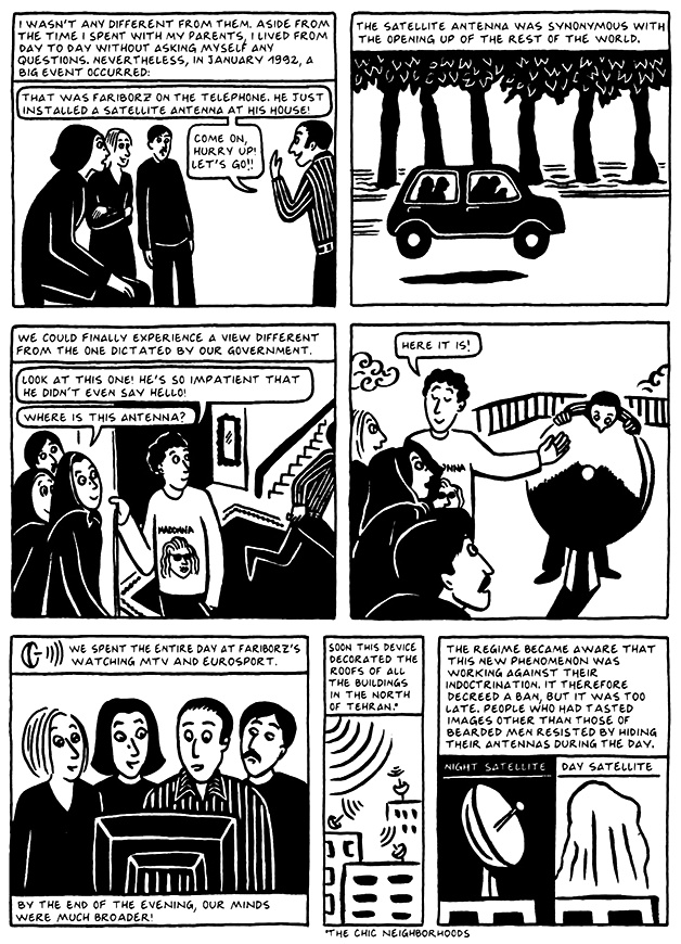 Read Chapter 18 - The Satellite, page 170, from Marjane Satrapi's Persepolis 2 - The Story of a Return