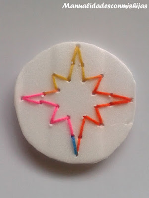 Estrella navidad coser popilespan