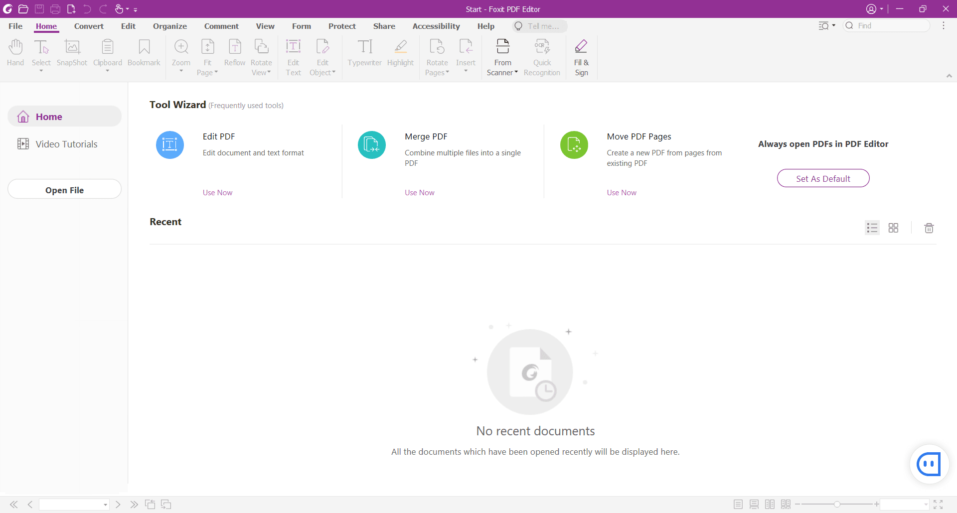 Foxit PDF Editor Main Interface Screenshot