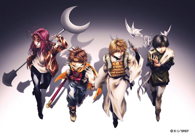 Primer visual del anime, ilustrado por Kazuya Minekura