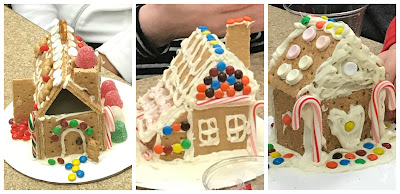 Mini Gingerbread house program, graham cracker houses