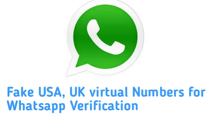 Fake number for Whatsapp