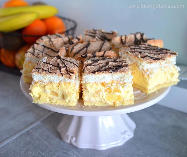 Ciasto Hawana z kokosem i ananasem