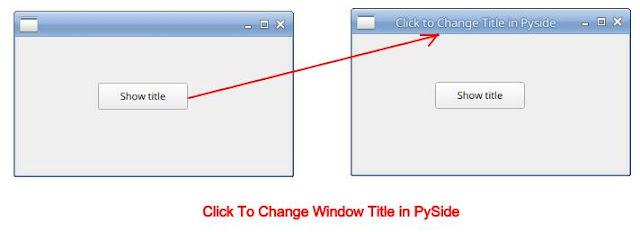 Set Window Title in PySide