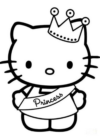 Gambar Kehidupan Gambar Hello Kitty Hitam Putih
