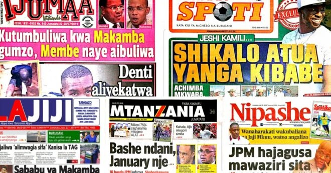 TANZANIA TODAY NEWSPAPER MONDAY JULY 22 2019