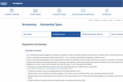 Kaist International Scholarship