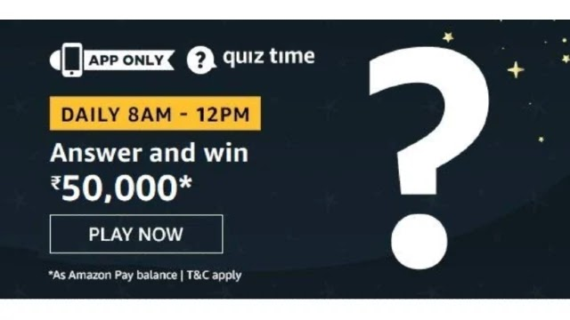 Amazon ₹50000 Pay Balance Quiz Answers - Today 30th March 2020