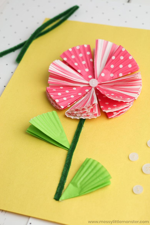 Cupcake liner craft for kids