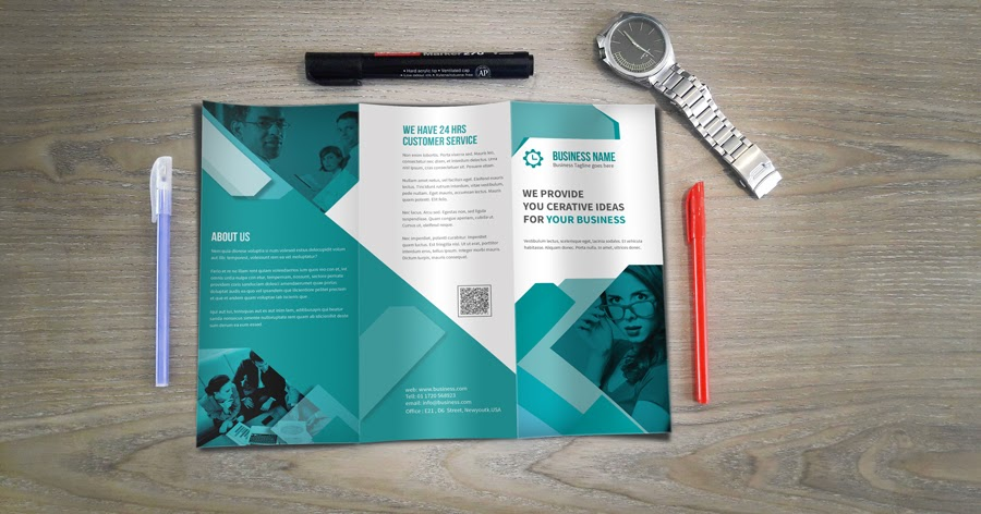 DOWNLOAD TRIFOLD PSD MOCKUP ABSOLUTELY FREE