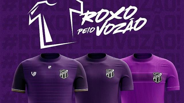 Torcedores do Ceará podem escolher novo uniforme do time; saiba como votar