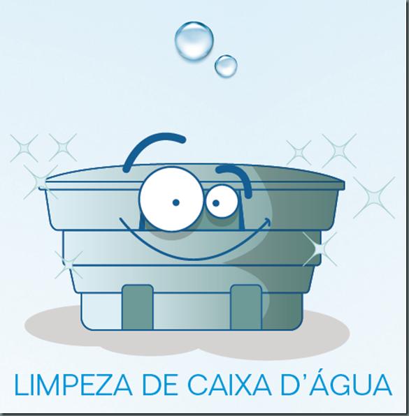 Limpeza e higienização de reservatórios de água