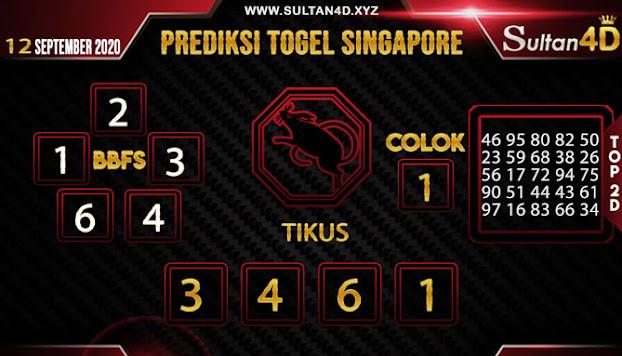 PREDIKSI TOGEL SINGAPORE SULTAN4D 12 SEPTEMBER 2020