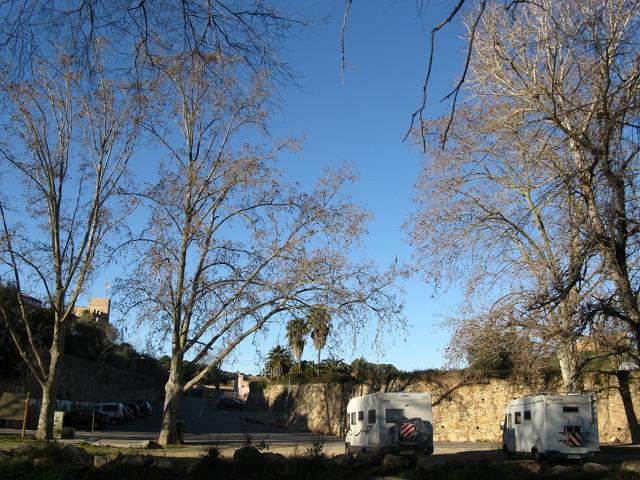 Vista general de l'àrea d'autocaravanes del Catllar
