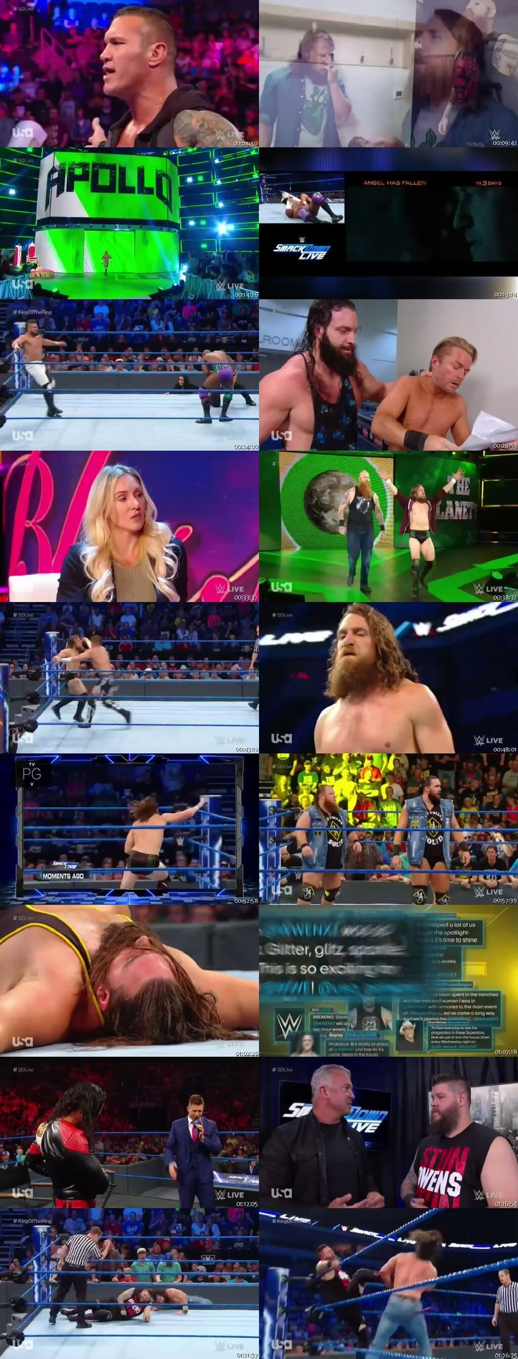 Screen Shot Of WWE SmackDown Live 20th August 2019 HDTV 480P 300MB
