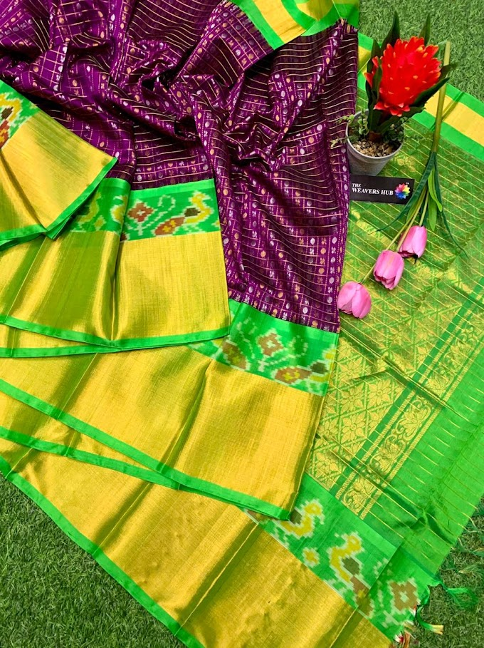 New Kuppadam Paatu Saree - Ikkat Border