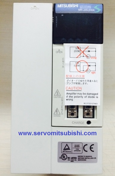 Đại lý bán drive Amplifier MelServo Mitsubishi MR-J2S-200A công suất 2000W, Động cơ Servo HC-SFS202 HC-SFS202B