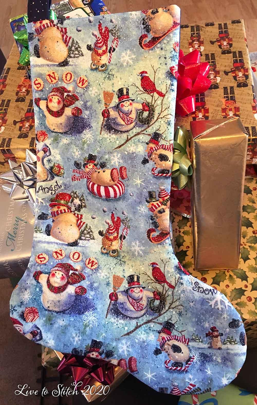 Back of Santa stocking