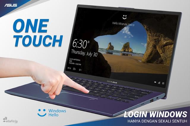 ASUS VivoBook 14 A412DA - Windows Hello