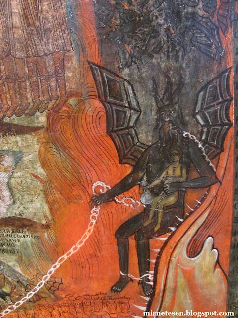 Рязанский художественный музей - фрагмент иконы, изображающей страшный суд