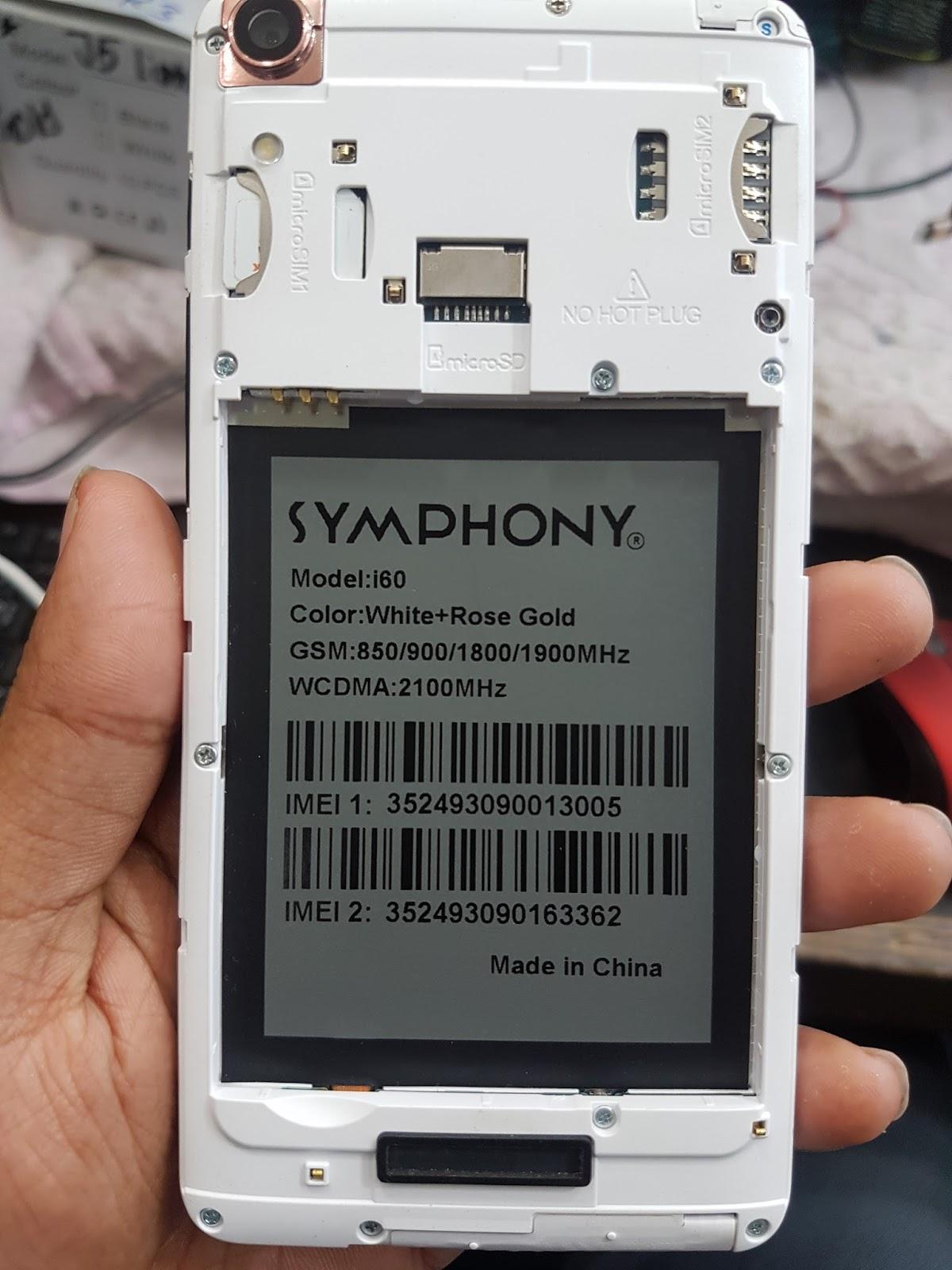 GSM RUMAN TELECOM: SYMPHONY I60 FRP RESET FILE ONLY 48MB