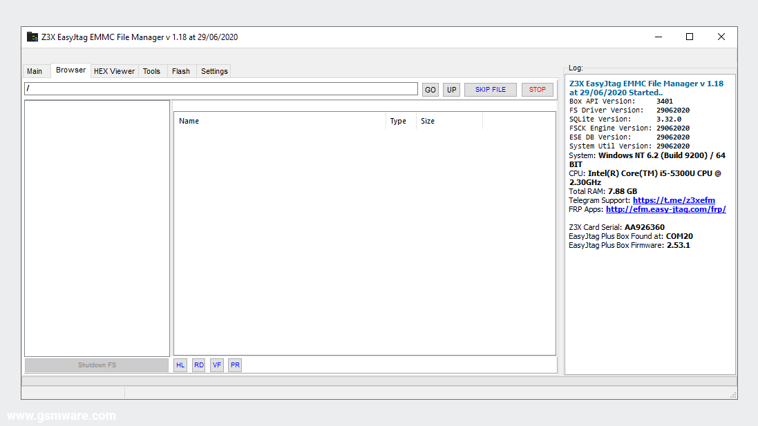 Z3X EasyJtag EMMC File Manager V1.18 Official Setup