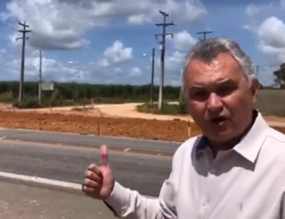 Deputado General Girão acompanha obras de duplicação da Reta Tabajara