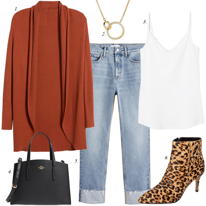 leopard boots fall outfit