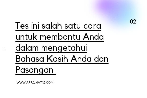 kuis bahasa kasih
