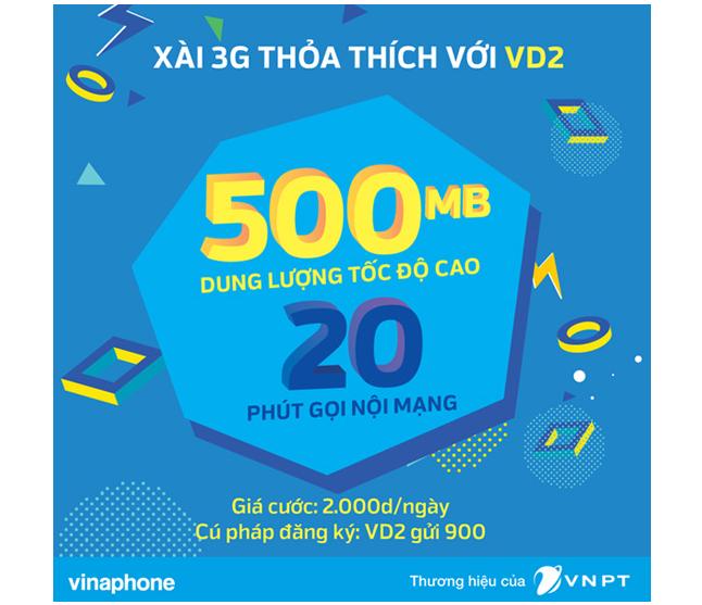 Đăng Ký 3G Vinaphone Chỉ Với 2K Nhận Ngay 500MB Và 20 Phút Gọi