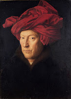 Portrait of a Man by Jan van Eyck, dedicated to be a self portrait of the artist, leading subject for Northern Renaissance