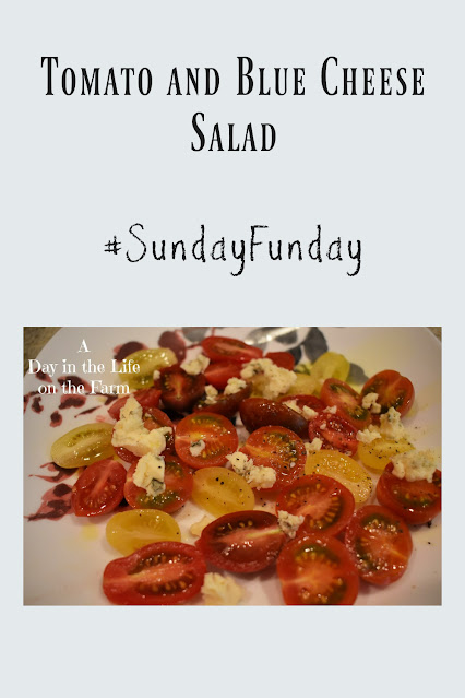 Tomato and Blue Cheese Salad pin