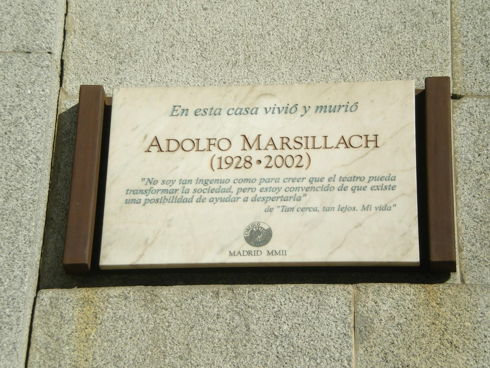 placa adolfo marsillach