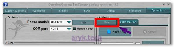 Convert Samsung Firmware to Octoplus Format -Choose main TAB
