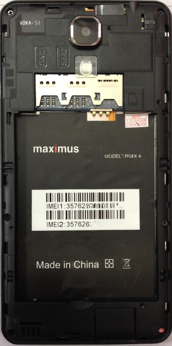 MAXIMUS MAX 4 FLASH FILE FIRMWARE STOCK ROM