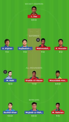 AFGH vs BAN dream 11 team | BAN vs AFGH
