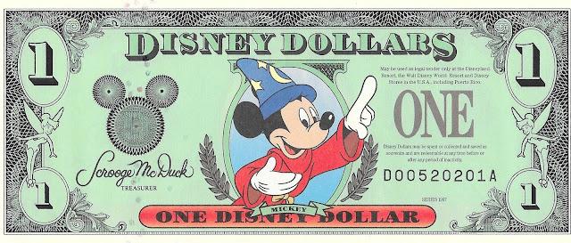 Sorcerer Mickey Disney Dollar Walt Disney World