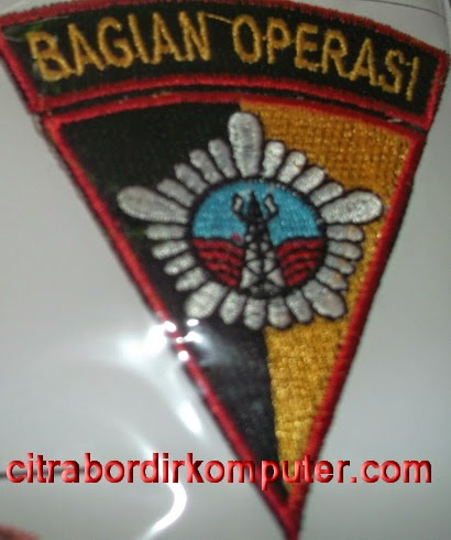 logo atribut bordir komputer BAGIAN OPERASI BRIMOB POLRI TNI