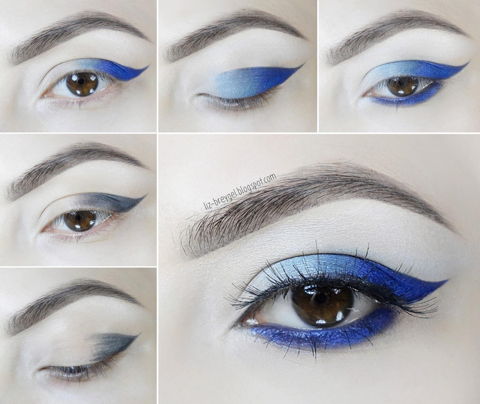 makeup tutorial look for blue brown eyes step by step liz breygel blogger