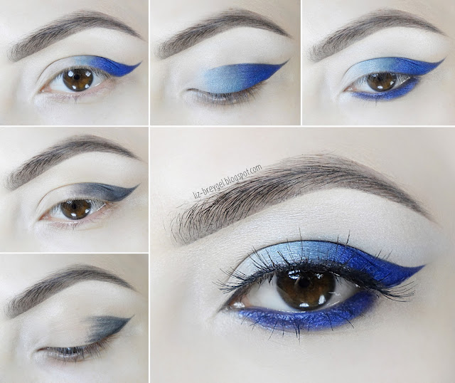 makeup tutorial look for blue brown eyes step by step liz breygel blogger