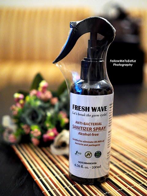FRESH WAVE anti-bacterial sanitiser spray