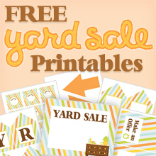 free printable yard sale signs price tags belly feathers