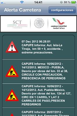 Capufe Informa en tiempo real accidentes y bloqueos en carreteras de Mexico