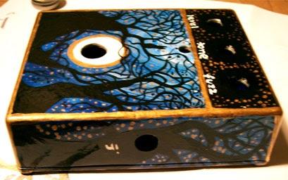 art by jeanne hospod custom painted guitar pedal complete. Black Bedroom Furniture Sets. Home Design Ideas