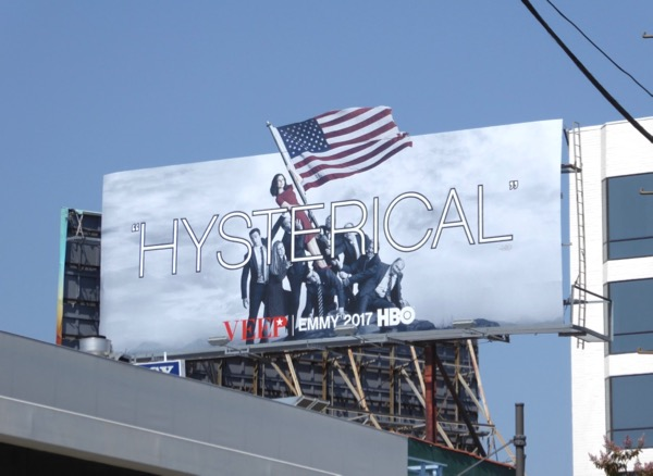 Veep Hysterical Emmy FYC billboard