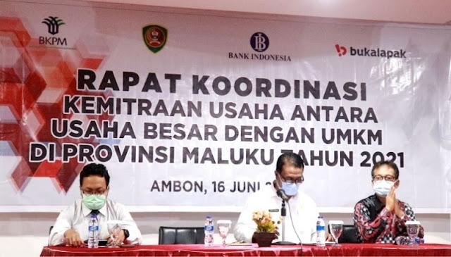 DPMPTSP Maluku Gelar Rapat Koordinasi Kemitraan Usaha Besar dan UMKM