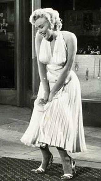 Marilyn Monre vestido adoravel pecadora